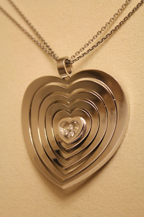 Chopard 18ct Gold Happy Diamond Necklace 5 Hearts