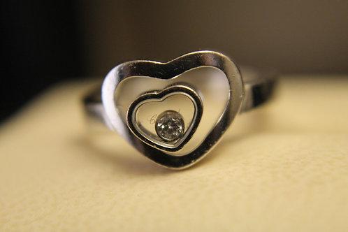 Chopard Happy Diamond Heart 18ct White Gold Ring