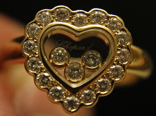Chopard Happy Diamond 18ct Yellow Gold Ring