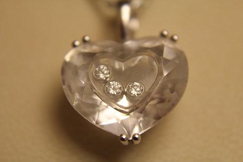 Chopard 18ct Gold So Happy Necklace 3 Diamonds