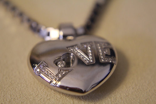 Chopard 18ct White Gold Love Necklace