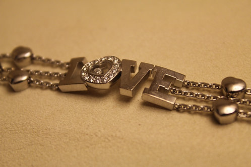 Chopard Happy Diamond Bracelet,18ct White Gold