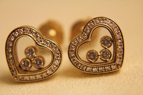 Chopard 18ct Yellow Gold Happy Diamonds Earrings