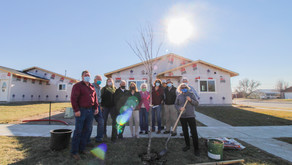 Owner Built Homes Neighbors Receive Trees Donated By Rotary Foundation