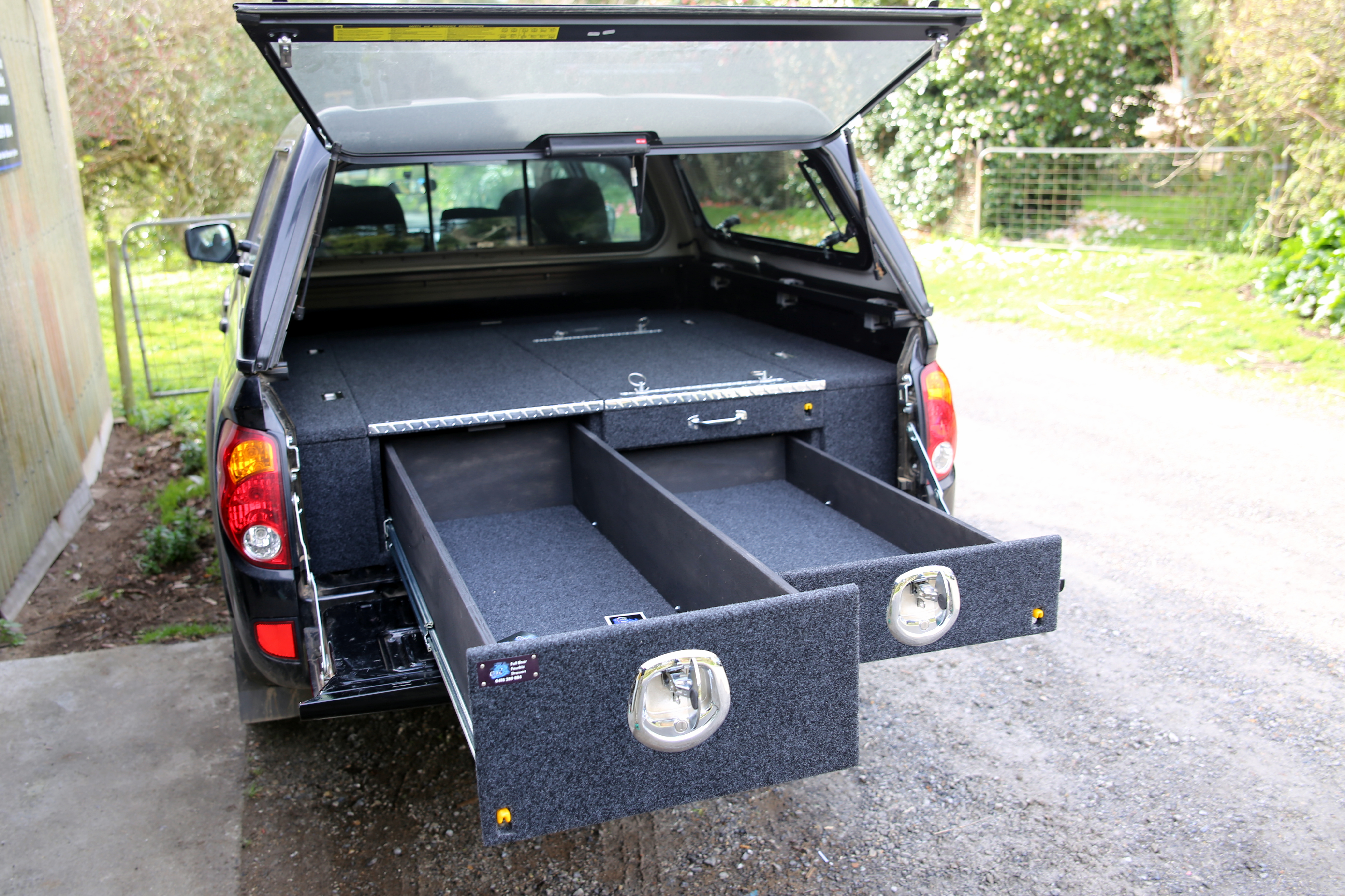 Double cab drawer system