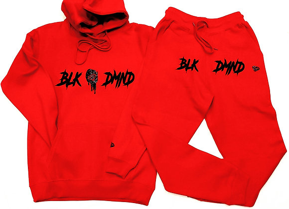 BLK DMND Red Jogger Suit Set