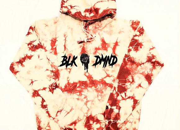 BLK DMND Raspberry/Creme Tie Dye Hoodie