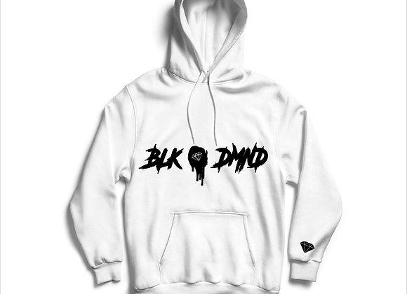 Unisex White & Black BLK DMND Hoodie