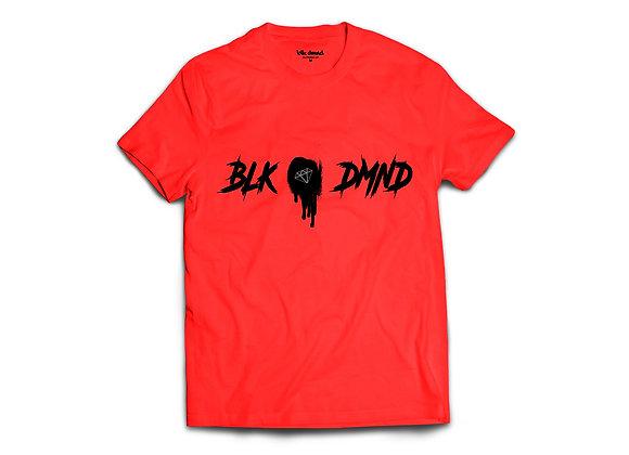 Unisex Red Triblend Crewneck T-shirt w/ Black Print