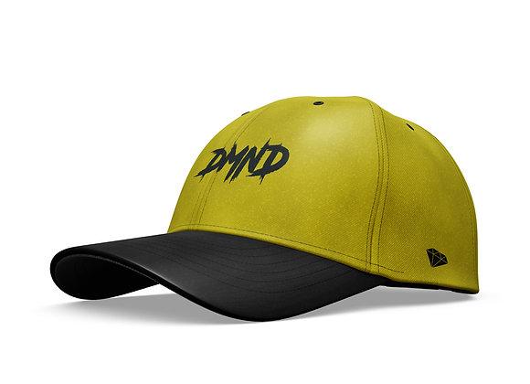 Mustard Yellow Suede w/ Black Snakeskin Curve Brim Strapback