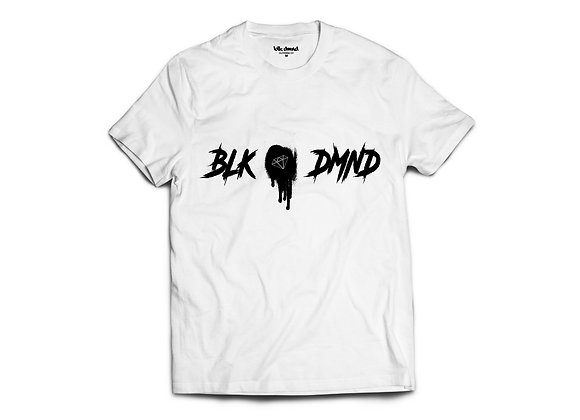 Unisex White Triblend T-shirt w/ Black Print