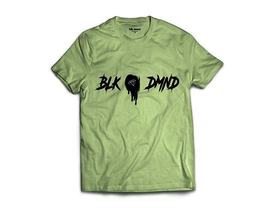 Unisex Heather Olive Triblend T-shirt w/ Black Print