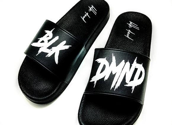 Unisex Black Tuxedo Style BLK DMND Slides