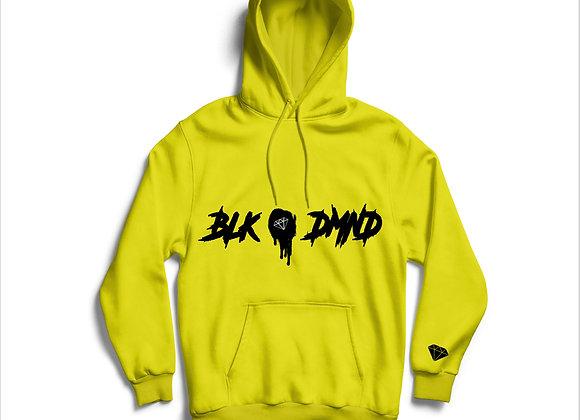 Unisex Heather Mustard & Black BLK DMND Hoodie