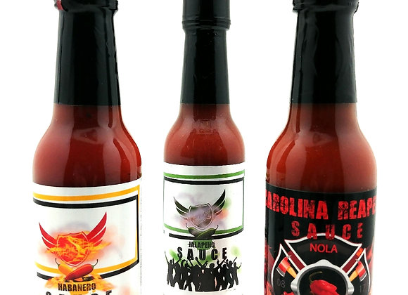 The Fly Boy Hot Sauce Combo Pack (Triple Threat)