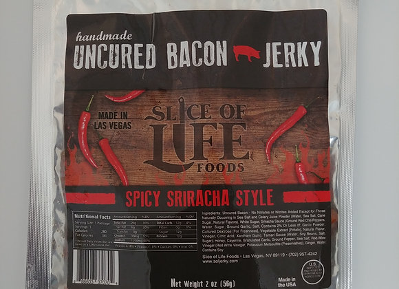 2oz Spicy Sriracha Style Uncured Bacon Jerky
