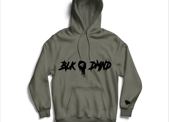 Unisex Grey & Black BLK DMND Hoodie
