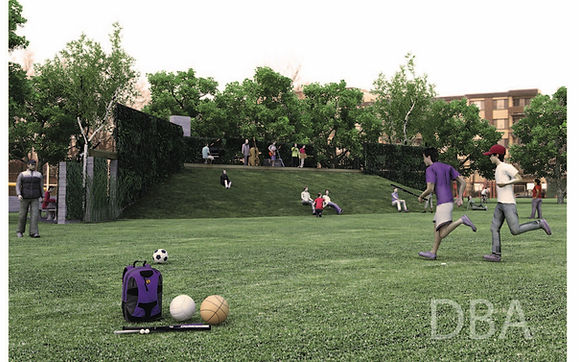 Architectural Park Rendering