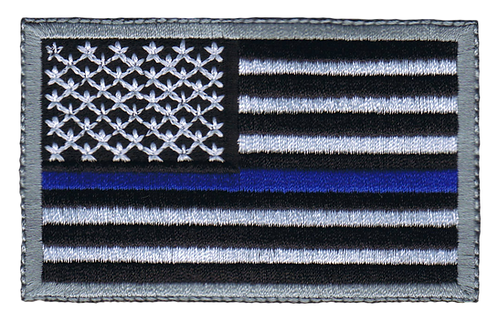 American Flag - Blue Line Flag (Subdued)