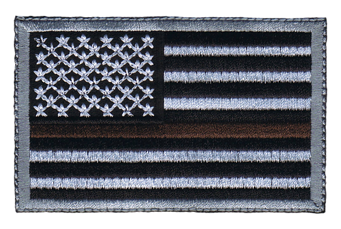 American Flag - Brown Line Flag (Subdued)
