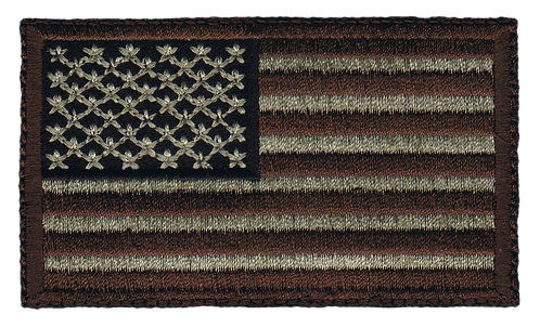 American Flag - Military Brown (Subdued)