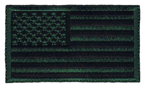 American Flag - Military Green (Subdued)