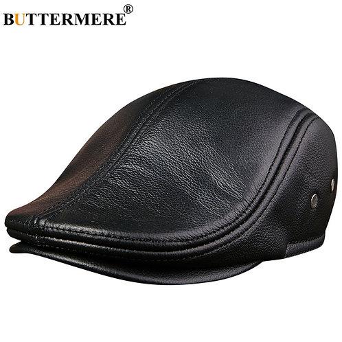 BUTTERMERE Flat Leather Duckbill Hats Berets