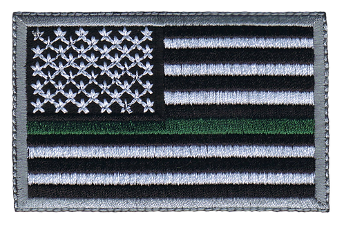 American Flag - Green Line Flag (Subdued)