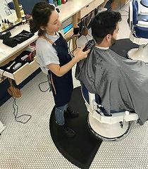 парикмахерский коврик