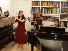 Rachel (Flute), Vincent (Trombone) and Mei (Piano) Ho