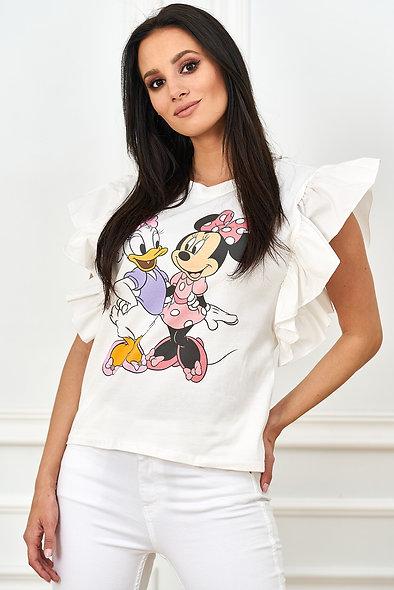 T-shirt z koronką