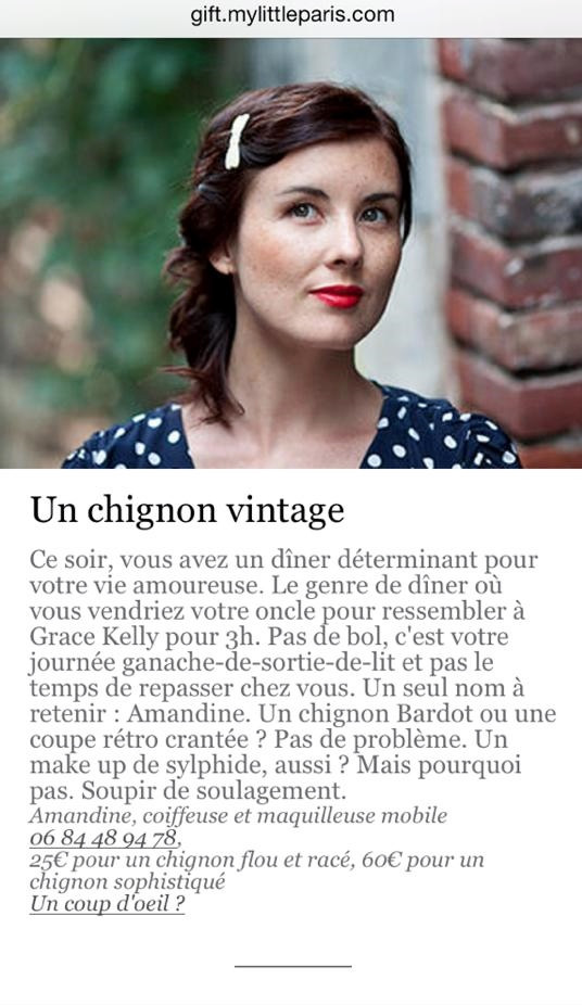 Newsletter My little Paris