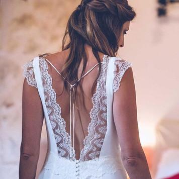 Isabelle dans sa magnifique robe de mari