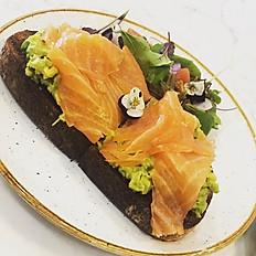 Smoked salmon, avocado on toast