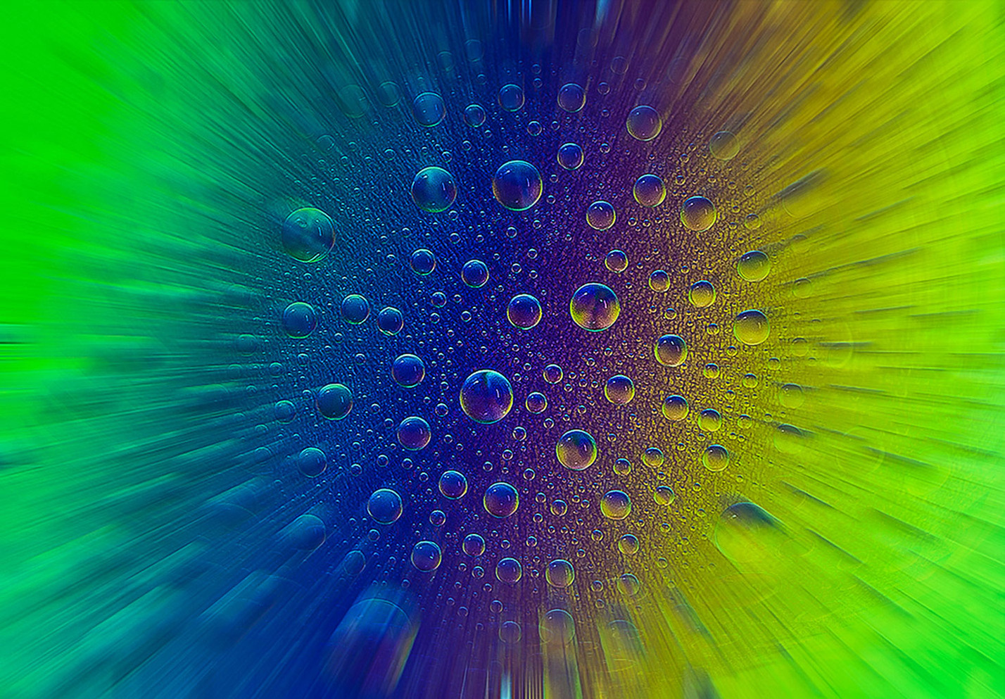 Polarised Water Droplets
