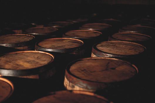 Whiskey Barrels at Boann Distillery
