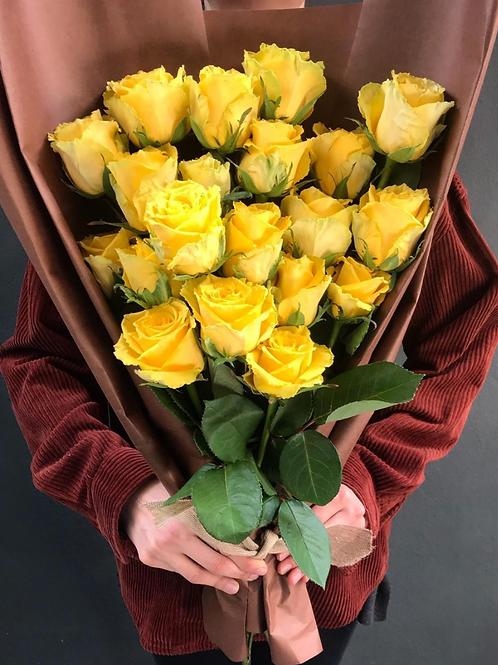 Sarı Mutluluk Gülleri Aranjmanı