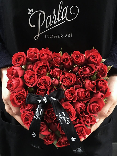Mini Aşk Kırmızı Kalp Aranjman