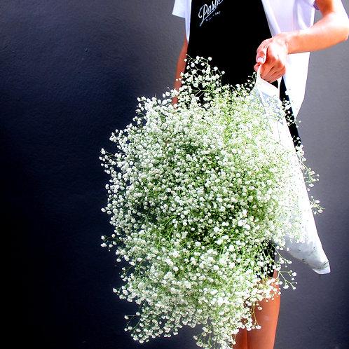 Tasarım Çantalı Cipsofilya Buketi