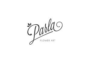 PARLA FLOWER ART LOGO