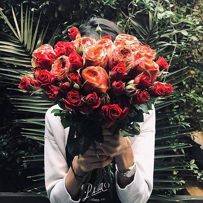 parla flower art aşk buketi kırmızı güller