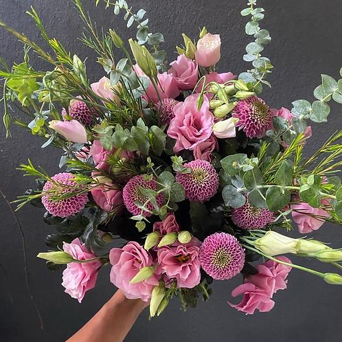 Pembe Yaz Chrysanthemum Buketi