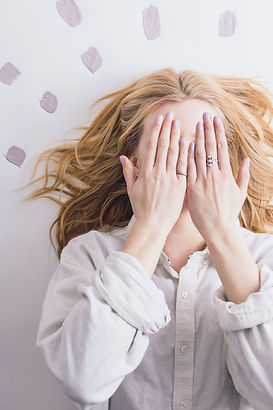 Woman wakig up not showing face