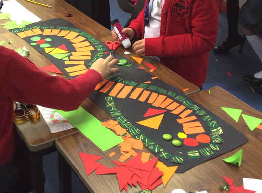 Children Get Creative On Mosaic Project For Their School