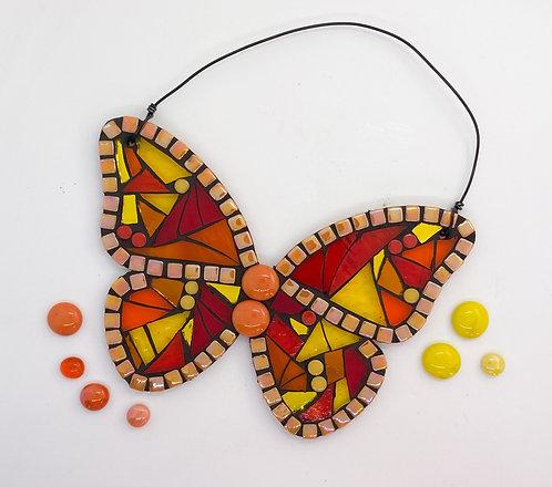 Hanging Garden Butterfly : orange / red/ yellow
