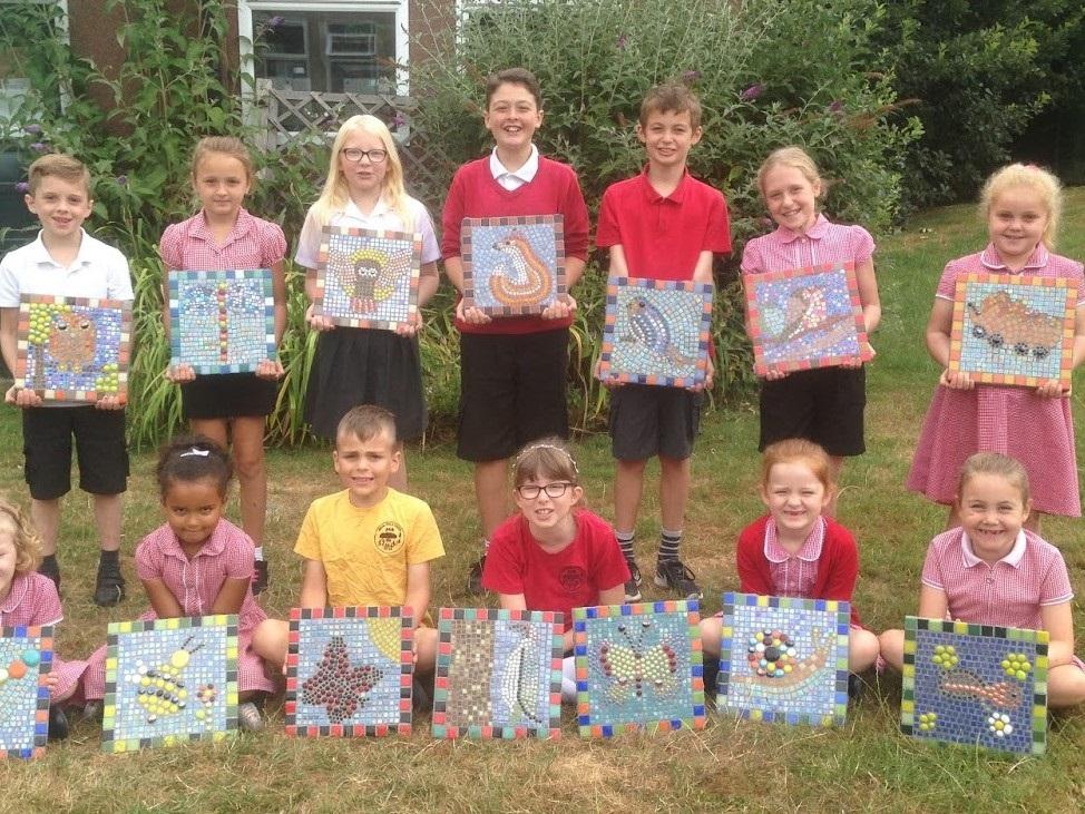 Mosaic Paving Slabs- School Mosaic Projec