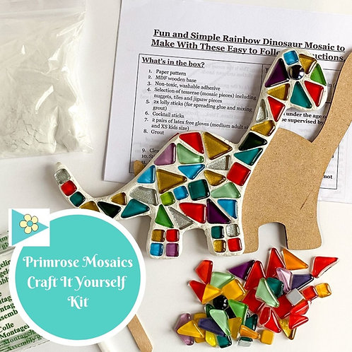 RAINBOW DINOSAUR- Indoor Mosaic Craft Kit