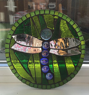 dragonfly mosaic art workshop