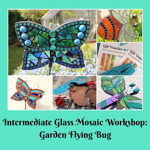 Voucher for Flying Bug: Intermediate Mosaic Workshop