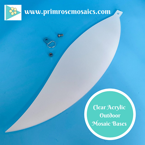 Feather: Outdoor Mosaic Base Substrate - Clear Acrylic Perspex